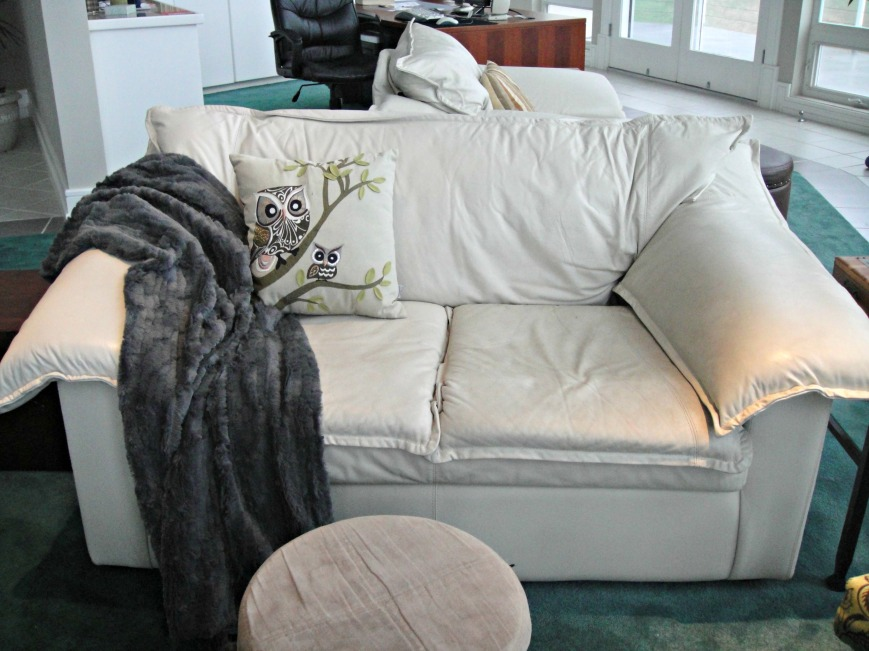 Gray Fur Throw 2