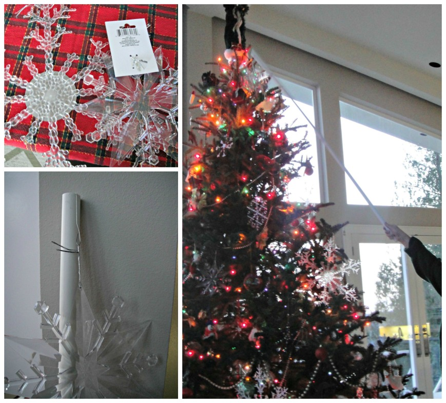 Hanging Snowflakes Collage