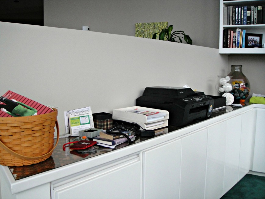 Clutter Behind the Desk 2