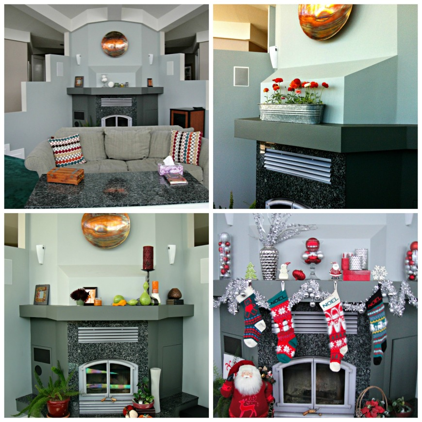 Seasonal Mantel Collage