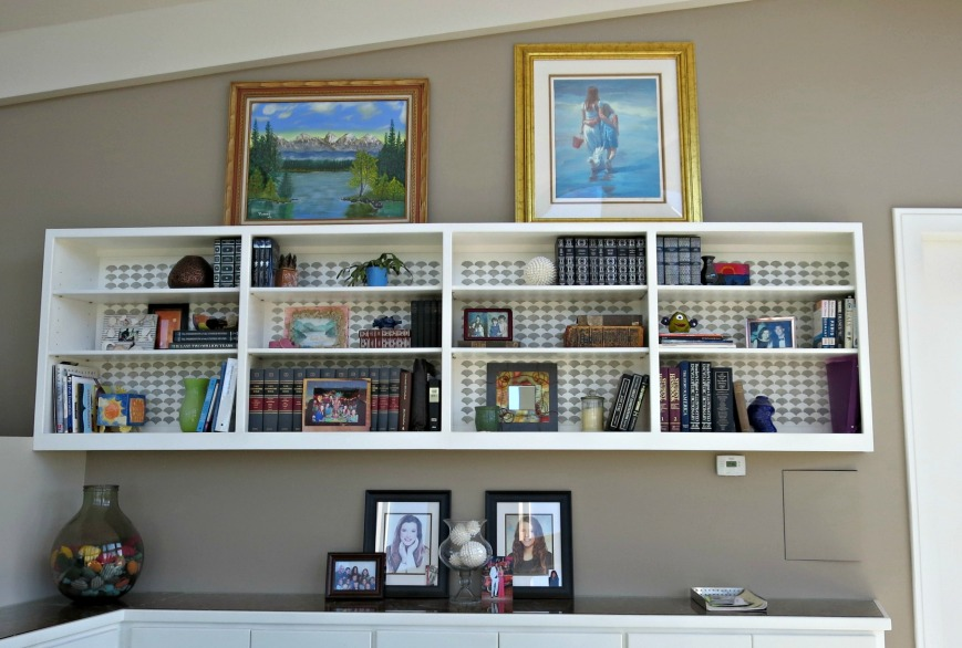 Bookcase filled