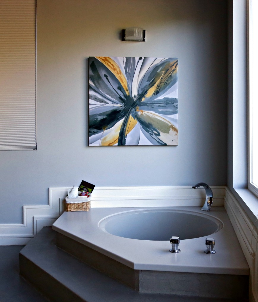 Flower Print over Tub