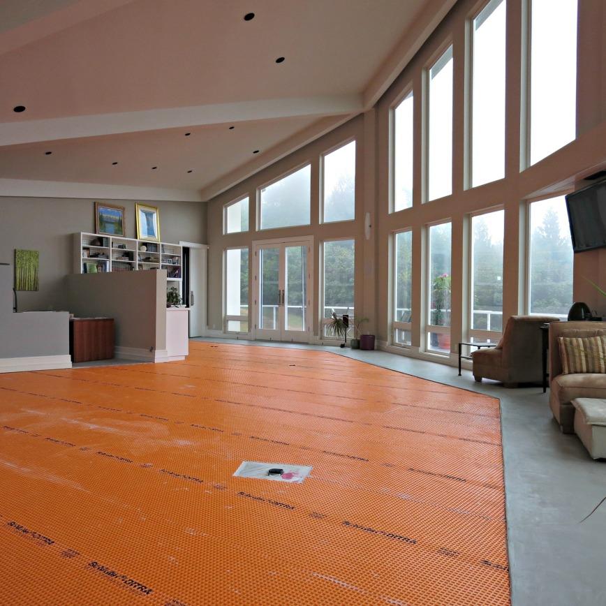 Orange floor at sunrise