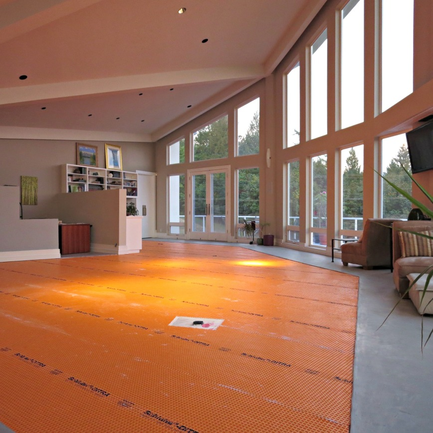 Orange floor at sunset