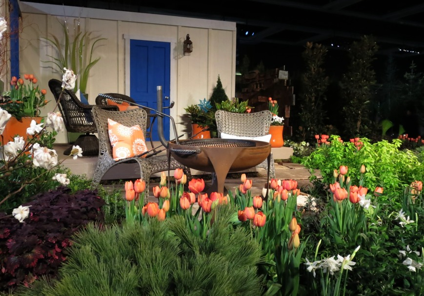 Flowers Pillows and Pots in Orange