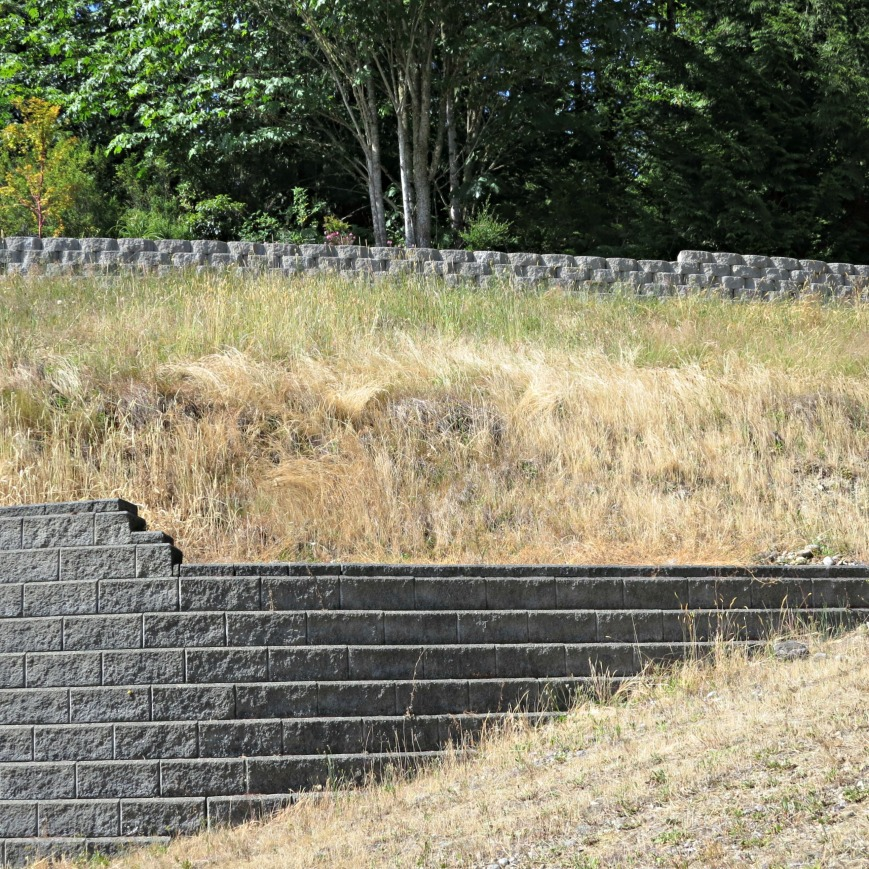 both retaining walls