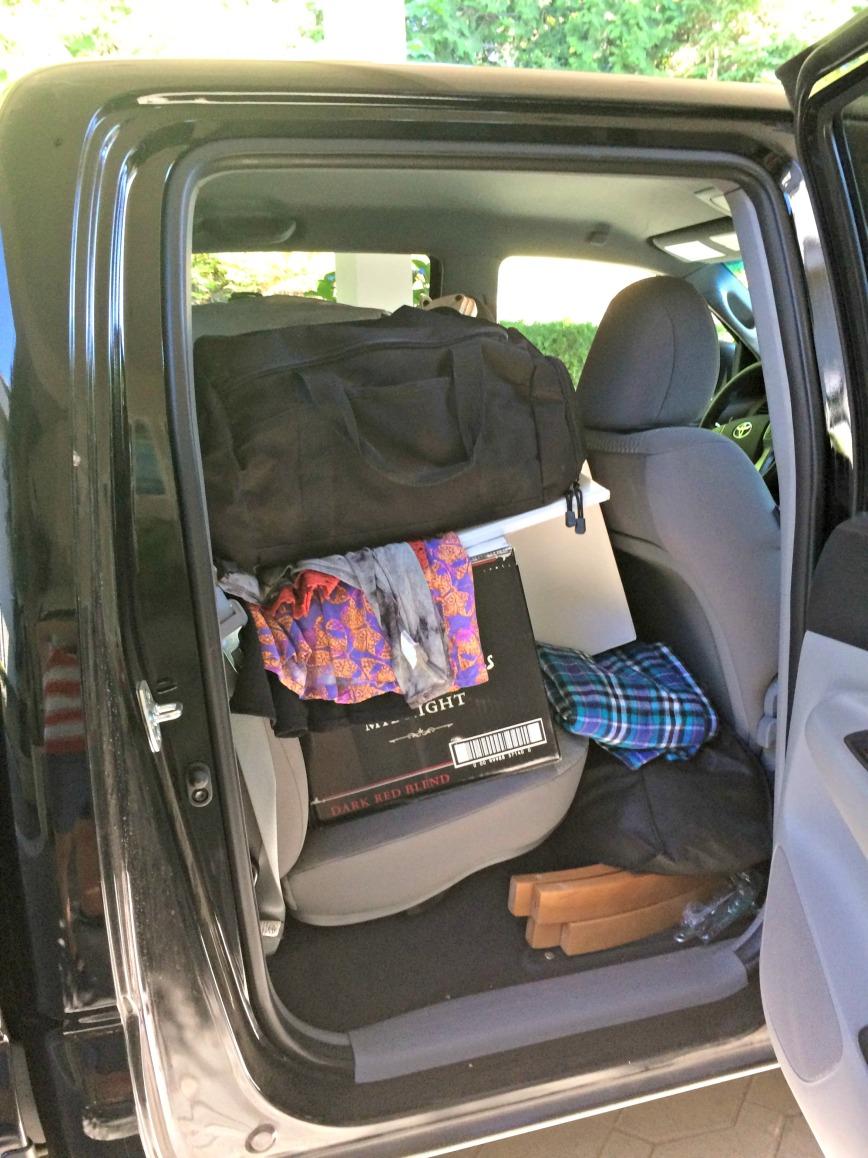 Truck backseat