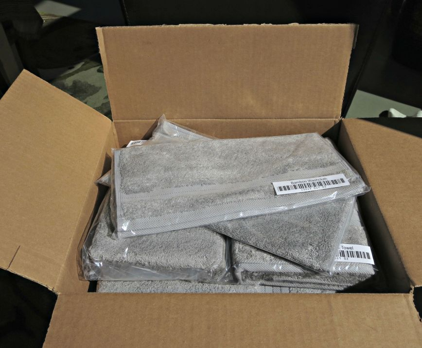 Towels in a box