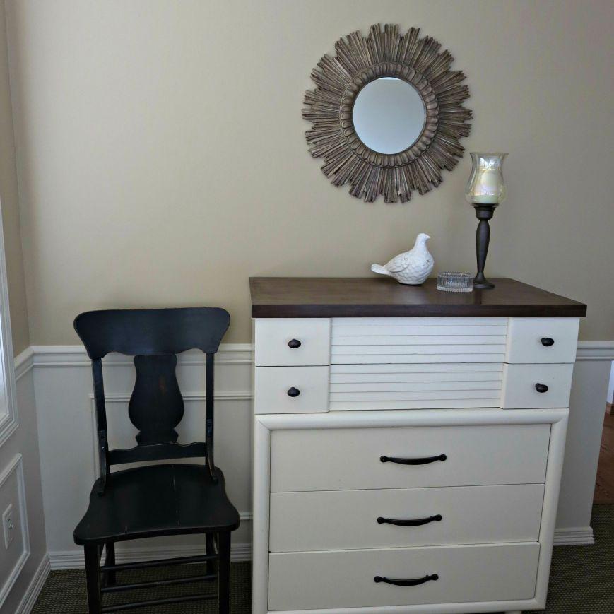 crisp white dresser