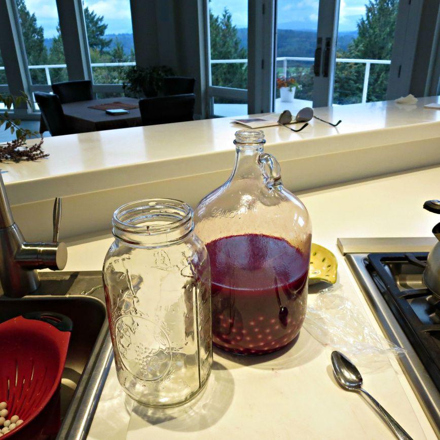 wine in jug