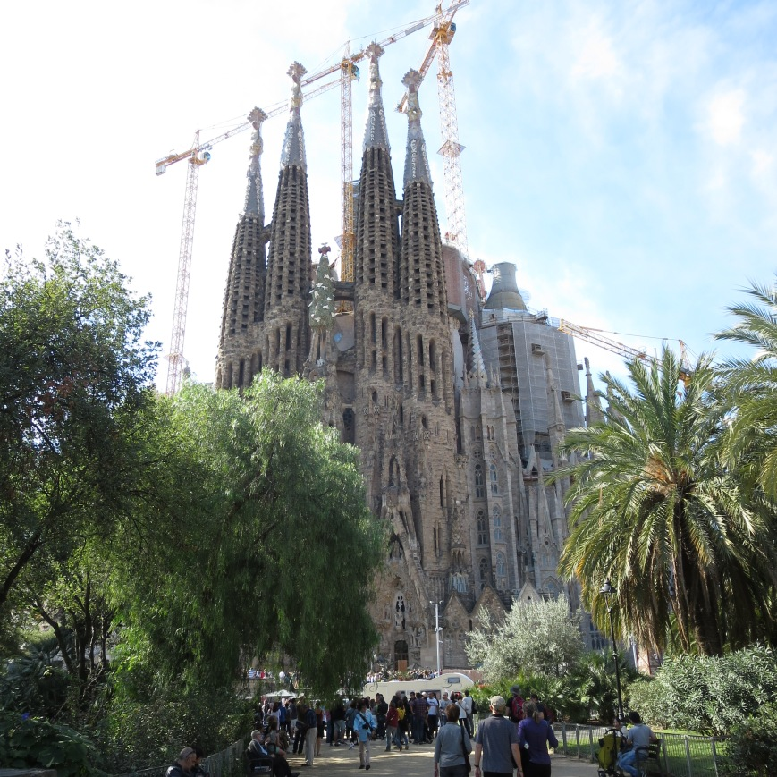 Sagrada Familia from the park